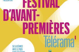 Festival d'avant-premières Télérama affiche cinéma