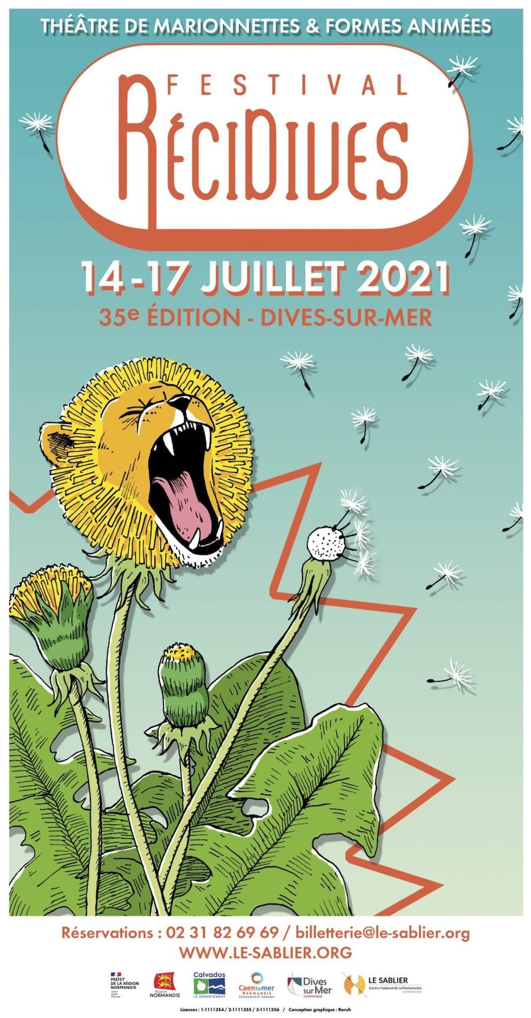 Festival RéciDives 2021 affiche spectacles enfants parents