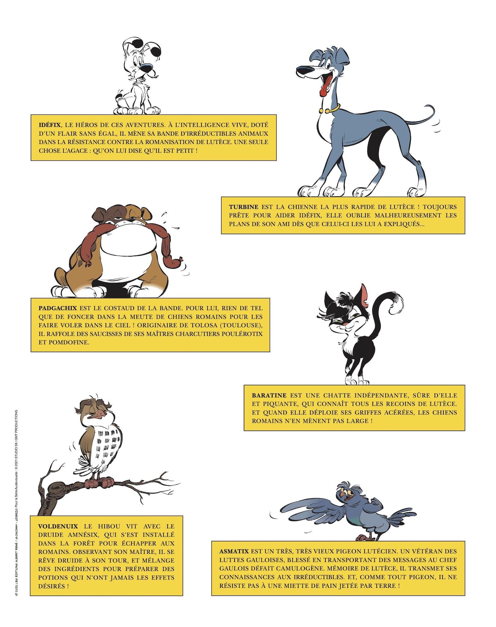 Idéfix et les Irréductibles - Pas de quartier pour le latin ! image Page Personnages bande dessinée