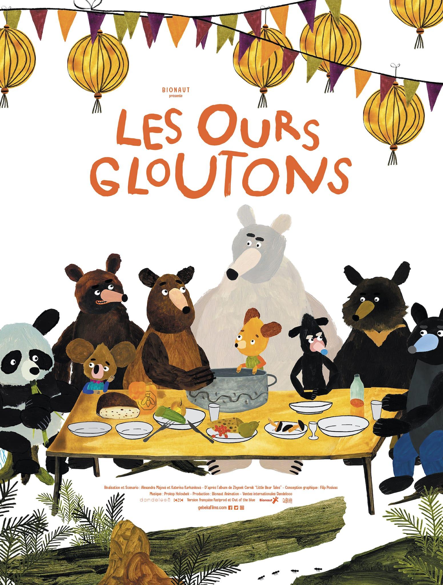 Les Ours gloutons d'Alexandra Hetmerová et Kateřina Karhánková affiche animation