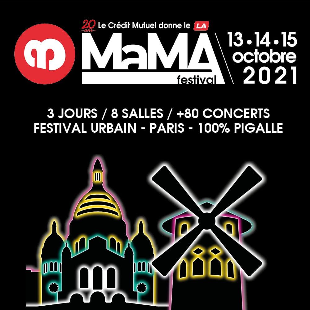 MaMA Festival & Convention 2021 affiche musiqu