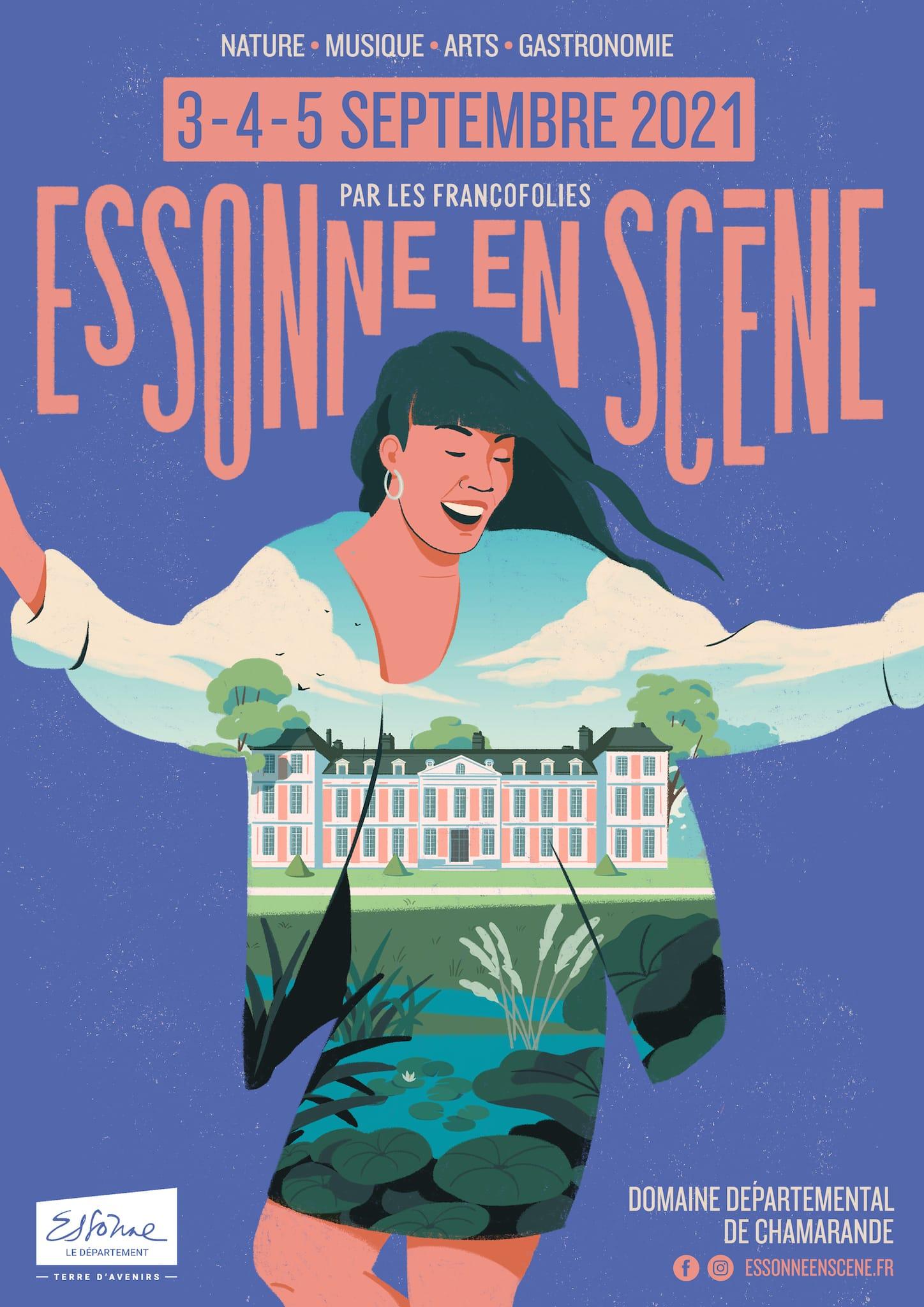 Essonne en Scène 2021 par Les Francofolies affiche musique