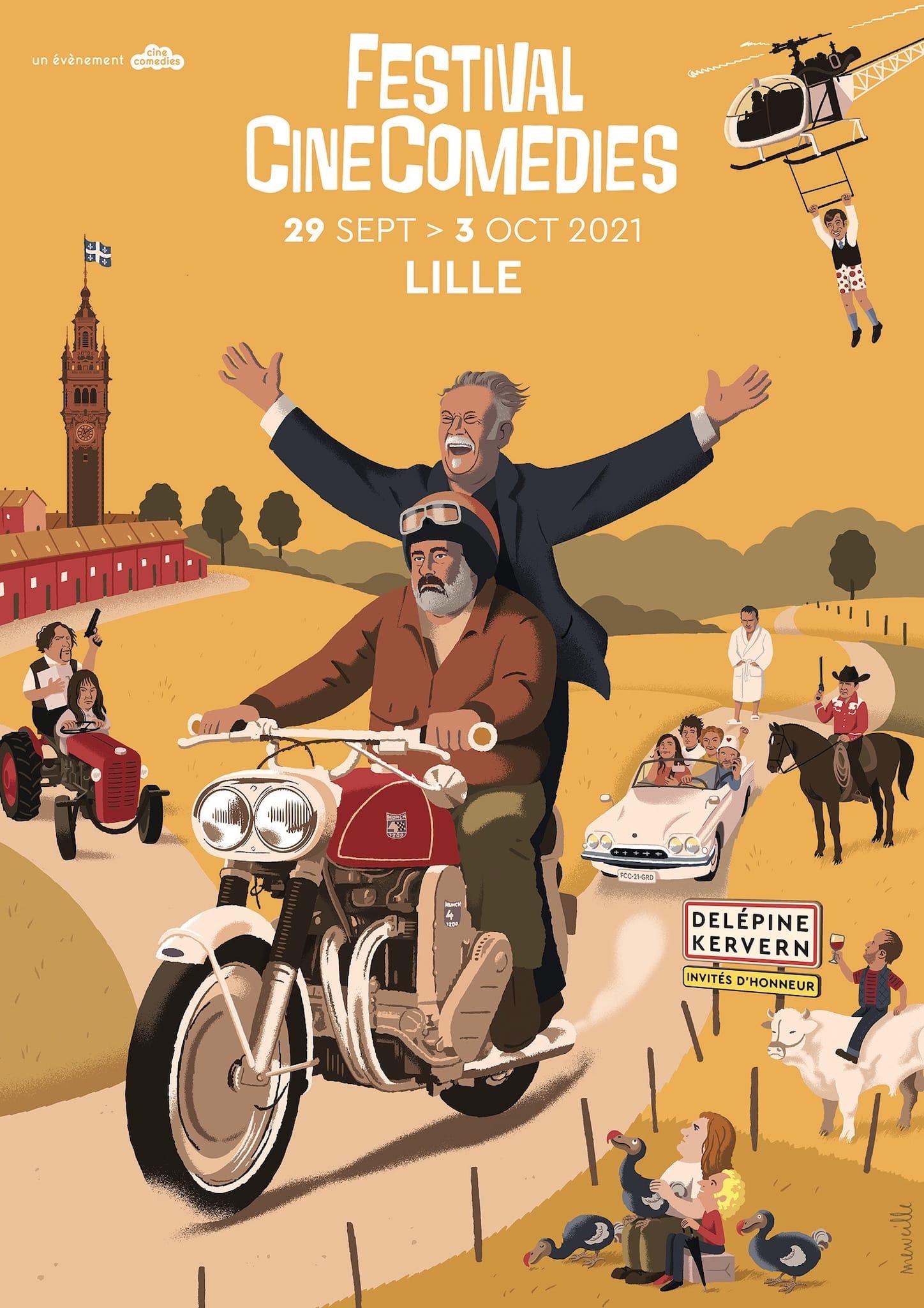 Festival CineComedies 2021 affiche cinéma comédie