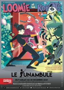 Loomie et les robots affich Théâtre Funambule Montmartre théâtre