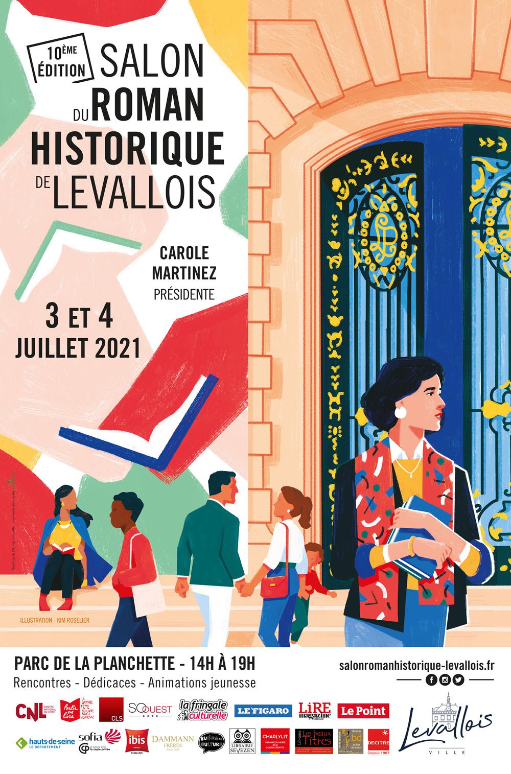 Salon du Roman historique levallois affiche 2021