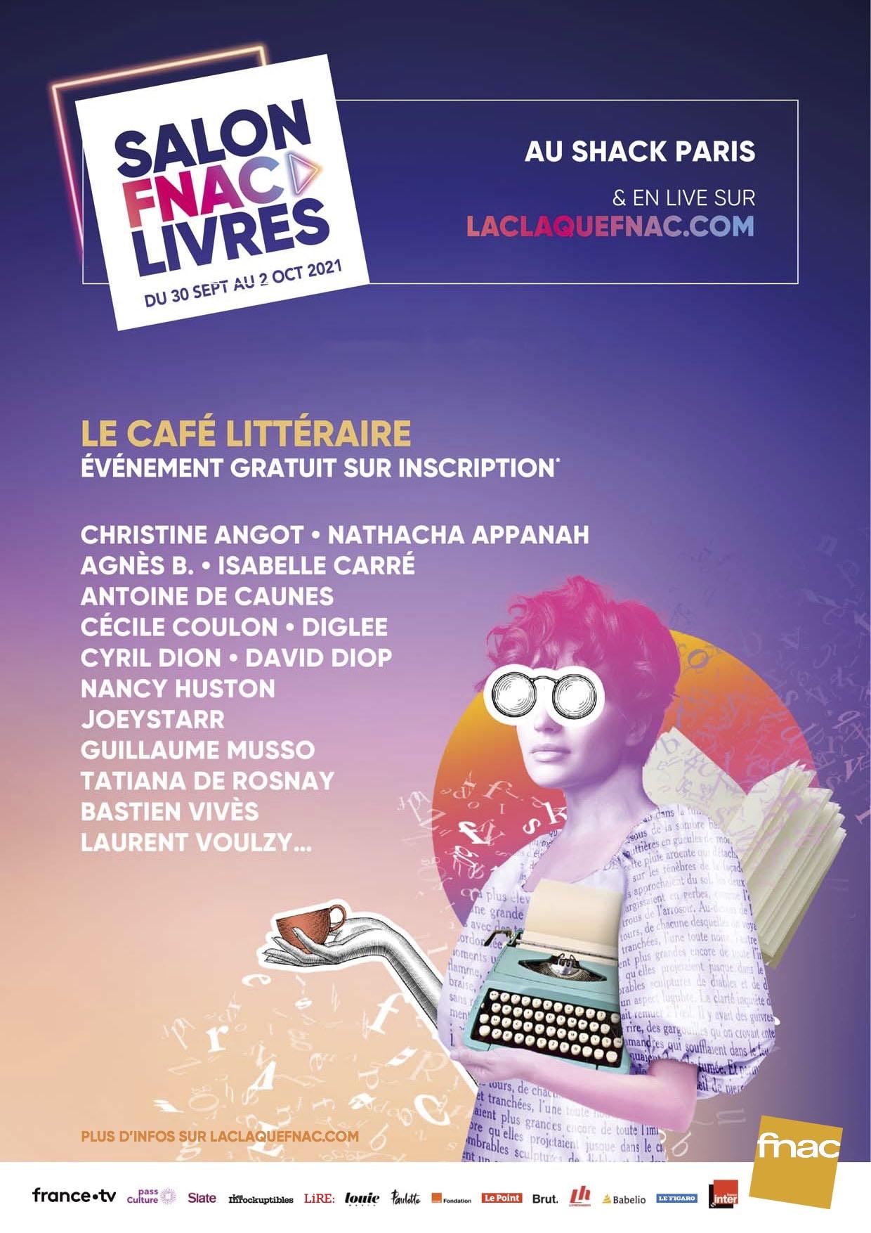 littérature affiche Salon Fnac Livres 2021