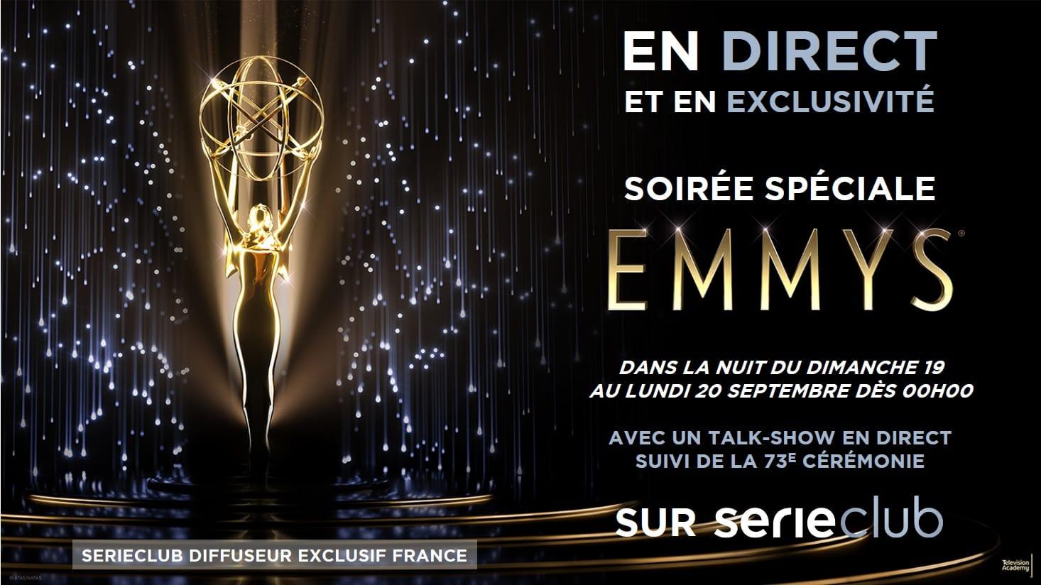 Emmy Awards 2021 affiche Serieclub cérémonie séries
