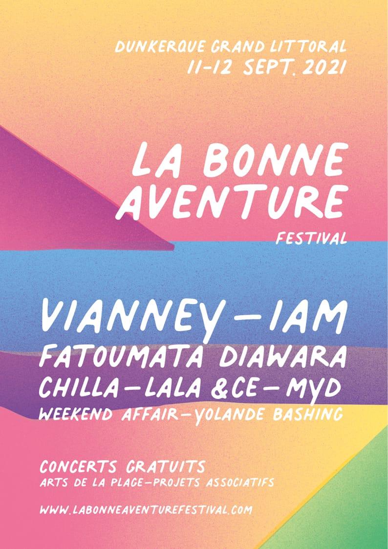Festival La Bonne Aventure 2021 affiche musique