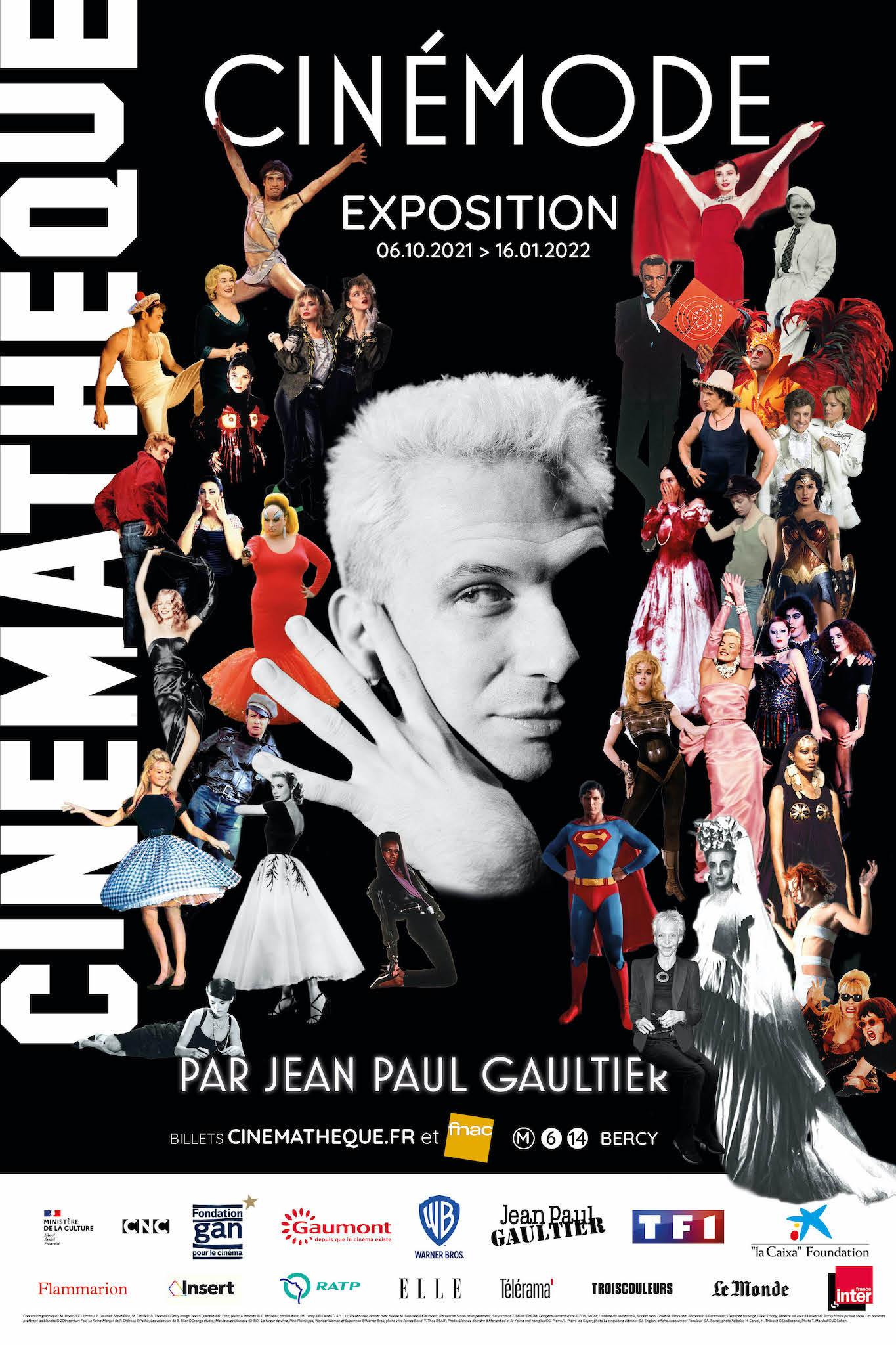 CinéMode par Jean Paul Gaultier affiche exposition