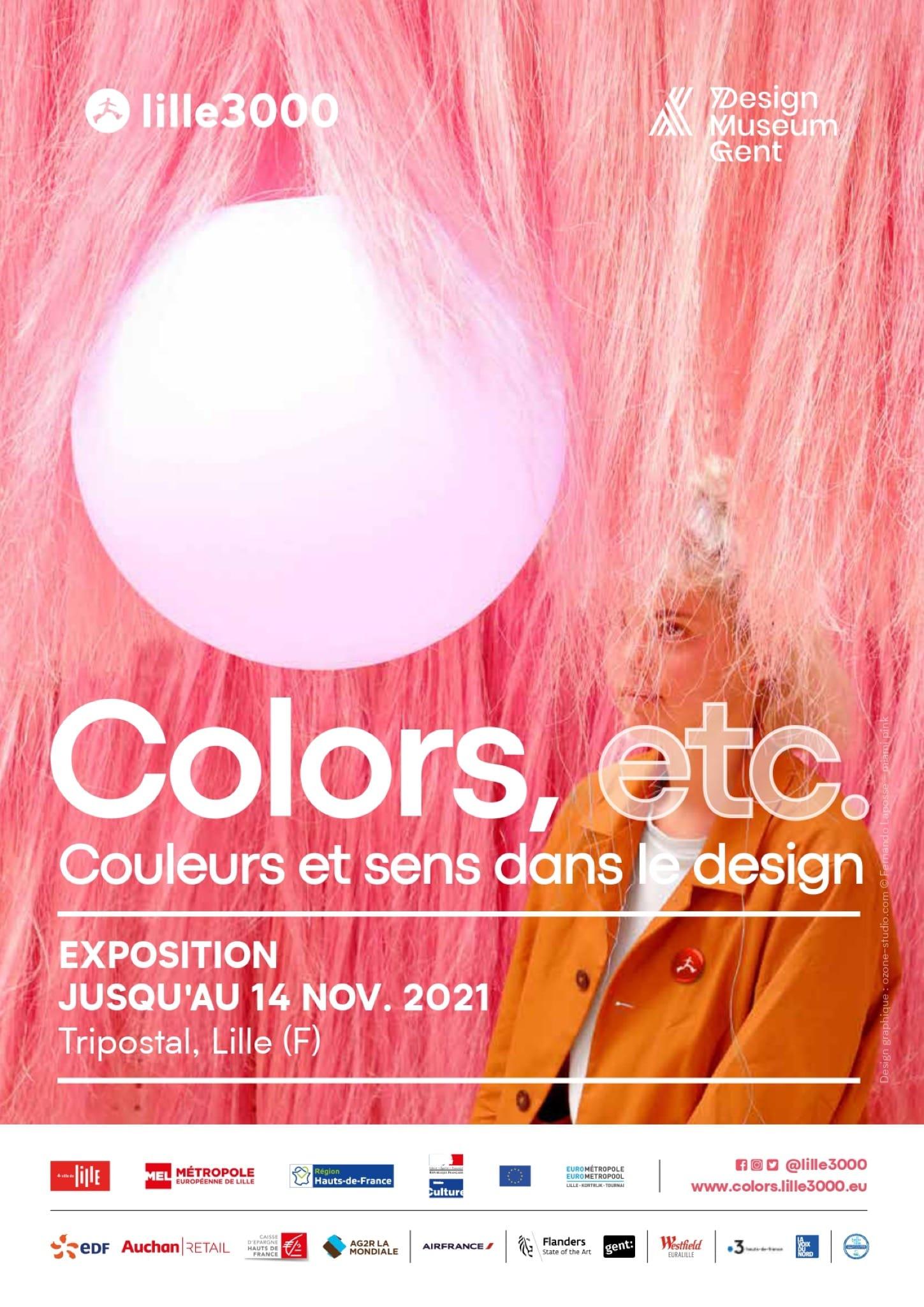 Exposition Colors, etc. affiche Tripostal de Lille